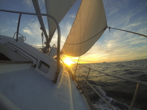 Twilight Sailing on Charade
