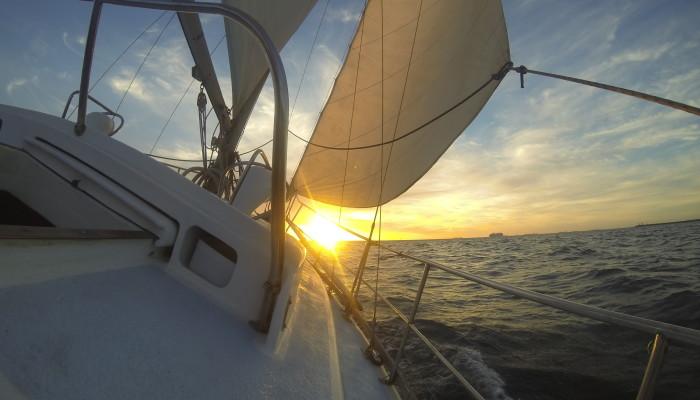 Twilight Sailing on Charade
